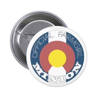Official FarmGirl Minion Colorado 2 Inch Round Button