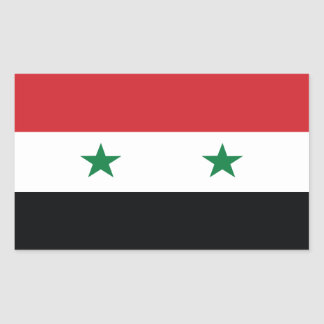 Official Flag of Syria Rectangular Sticker