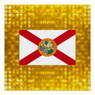 Official Floridian Flag Perfect Poster