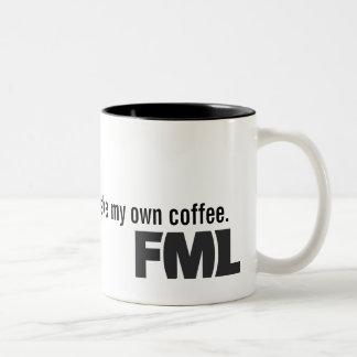 Official FML Mug: Homemade Two-Tone Coffee Mug