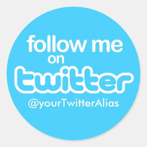 "Official ""Follow Me on Twitter"" Sticker"