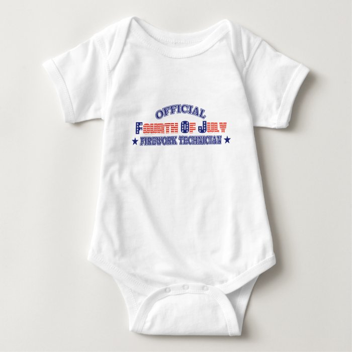 Official Fourth / 4th Of July Firework Technician Baby Bodysuit