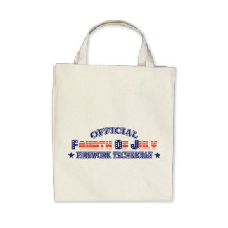 Official Fourth / 4th Of July Firework Technician Canvas Bags