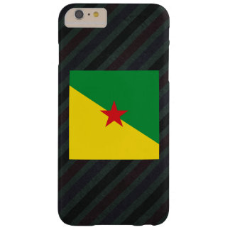 Official French Guiana Flag on stripes Barely There iPhone 6 Plus Case