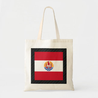 Official French Polynesia Flag on stripes Budget Tote Bag