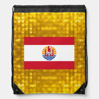 Official French Polynesian Flag Cinch Bags
