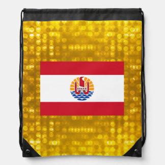 Official French Polynesian Flag Drawstring Bags