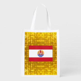 Official French Polynesian Flag Market Totes