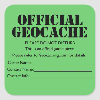 Official Geocache Sticker