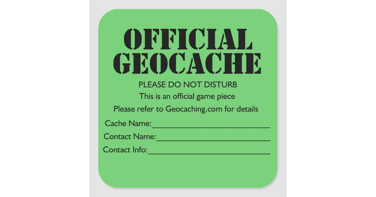 This is a picture of Resource Official Geocache Printable