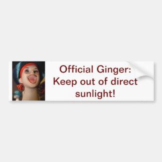Official Ginger bumper sticker Car Bumper Sticker