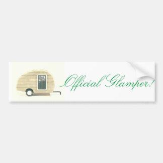 Official  Glamper! Teardrop Caravan Bumper Sticker