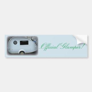 Official Glamper! Teardrop Caravan camper Bumper Sticker