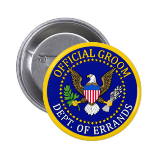 Official Groom Button