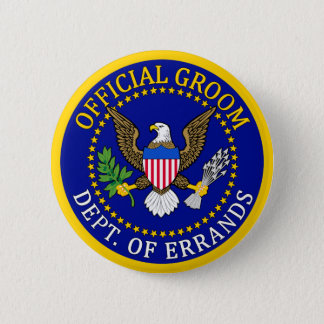 Official Groom Pinback Button