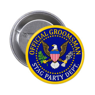 Official Groomsman Button