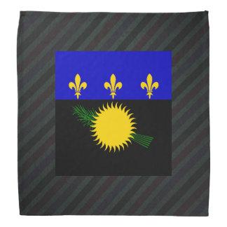 Official Guadeloupe Flag on stripes Bandana