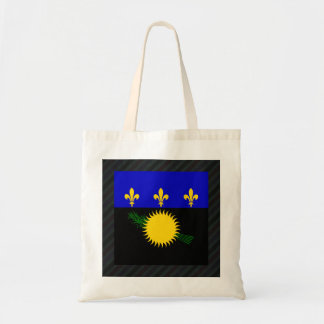 Official Guadeloupe Flag on stripes Tote Bag