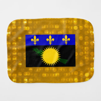 Official Guadeloupean Flag Baby Burp Cloth