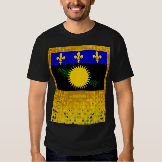 Official Guadeloupean Flag Tee Shirts