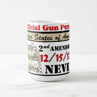 Official Gun Permit Coffee Mug