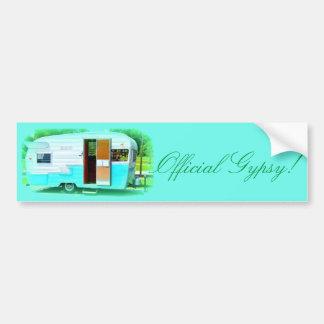 Official Gypsy! Caravan trailer caravan Bumper Sticker