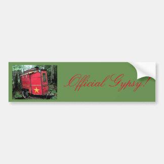 Official Gypsy! Red traveler caravan Bumper Sticker