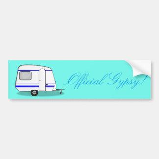 Official Gypsy! Streamlined camper trailer Bumper Sticker