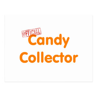 Official Halloween candy collector Postcard