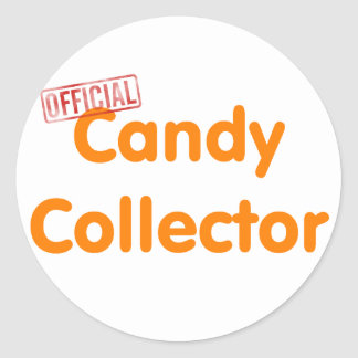 Official Halloween candy collector Classic Round Sticker