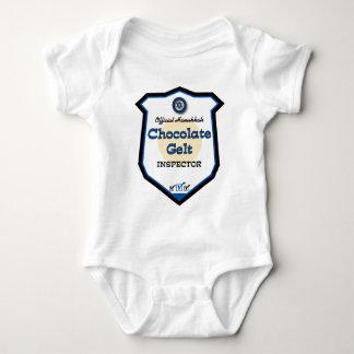 Official Hanukkah Chocolate Gelt Inspector Baby Bodysuit