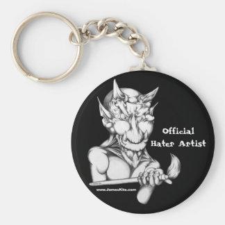 Official Hater Artist Basic Round Button Keychain