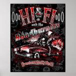 """Official """"HI FI & THE ROADBURNERS"""" Poster"""