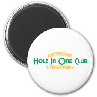Official Hole In One Club Member 2 Inch Round Magnet