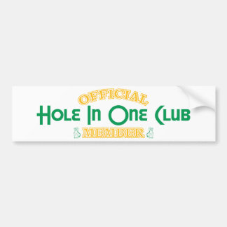 Official Hole In One Club Member Bumper Stickers