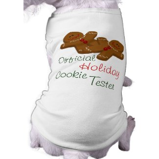 Official Holiday Cookie Tester Dog Shirt petshirt