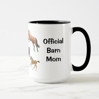 Official Horse Barn Mom Customizable Mug