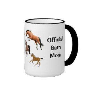 Official Horse Barn Mom Customizable Mug