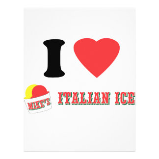 """Official """"I LOVE MIKE'S ITALIAN ICE"""" Brand Flyer"""