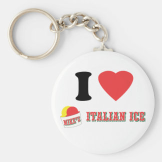 """Official """"I LOVE MIKE'S ITALIAN ICE"""" Brand Keychain"""