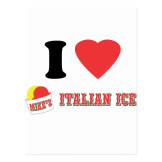 "Official ""I LOVE MIKE'S ITALIAN ICE"" Brand Postcard"