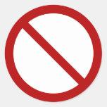 Official international no symbol ISO 3864-1 Sticker