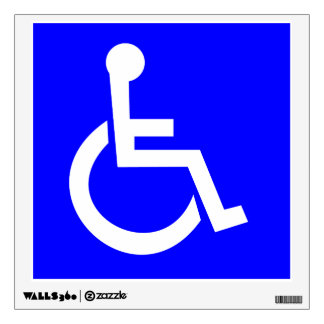 Official International symbol of access Square Wall Decal