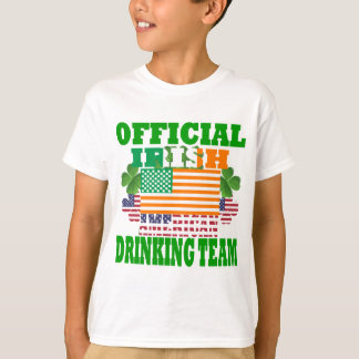 Official Irish American drinking team T-Shirt
