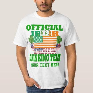 Official Irish American drinking team Tee Shirt