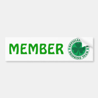 Official-Irish-Drinking-Team.2-png Bumper Sticker