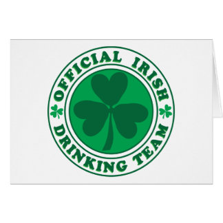 Official-Irish-Drinking-Team.2-png Greeting Card