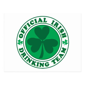 Official-Irish-Drinking-Team.2-png Postcard