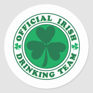 Official-Irish-Drinking-Team.2-png Classic Round Sticker