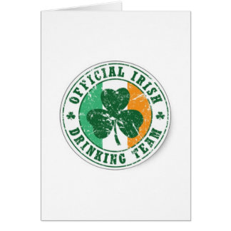 Official Irish Drinking Team Card